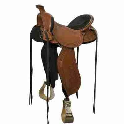 High-quality custom western saddle
