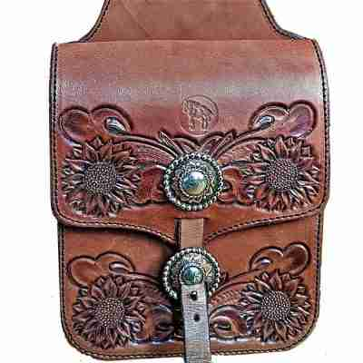 Leather Western Saddlebags