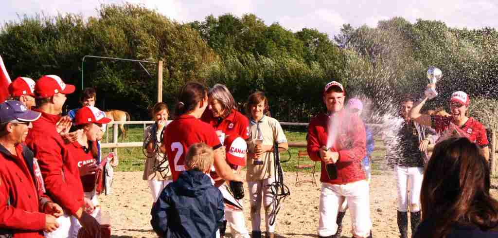Winning the European Polocrosse Tournament